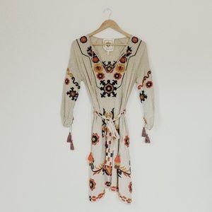 Nordstrom Z&L Boho Embroidered Dress
